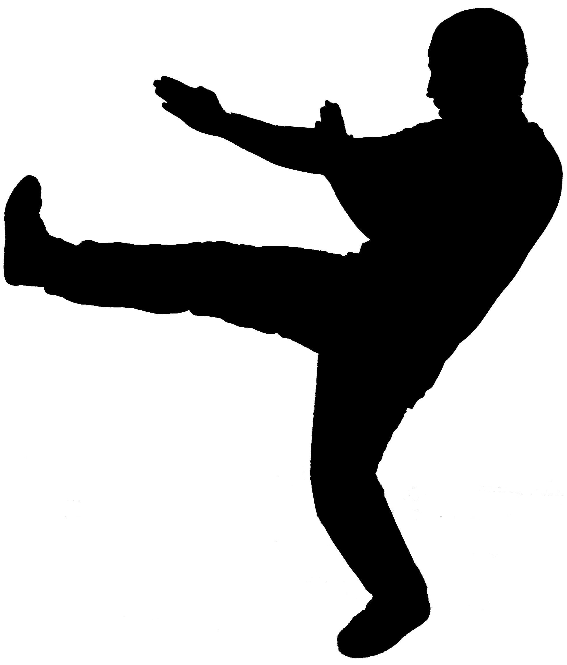 Karate Kick Clip Art
