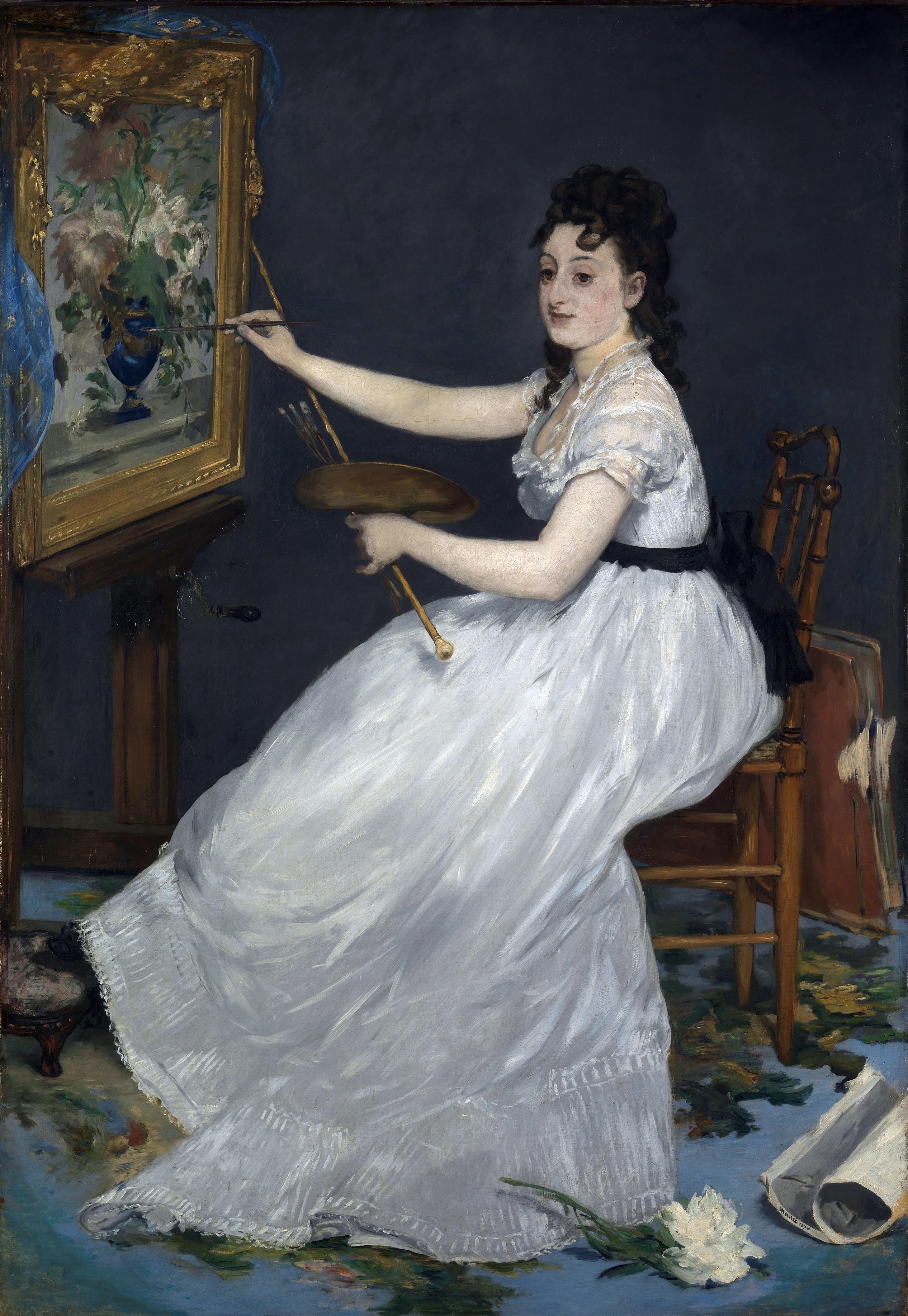 Portrait of Eva Gonzalès, 1869-1870, by Édouar...