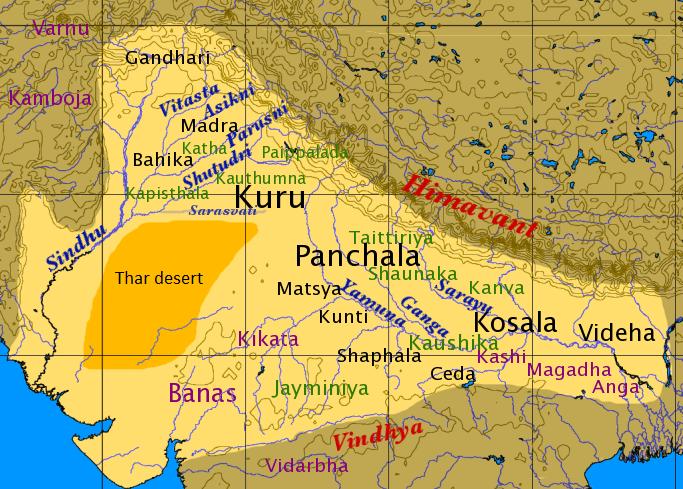 File:Map of Vedic India.png