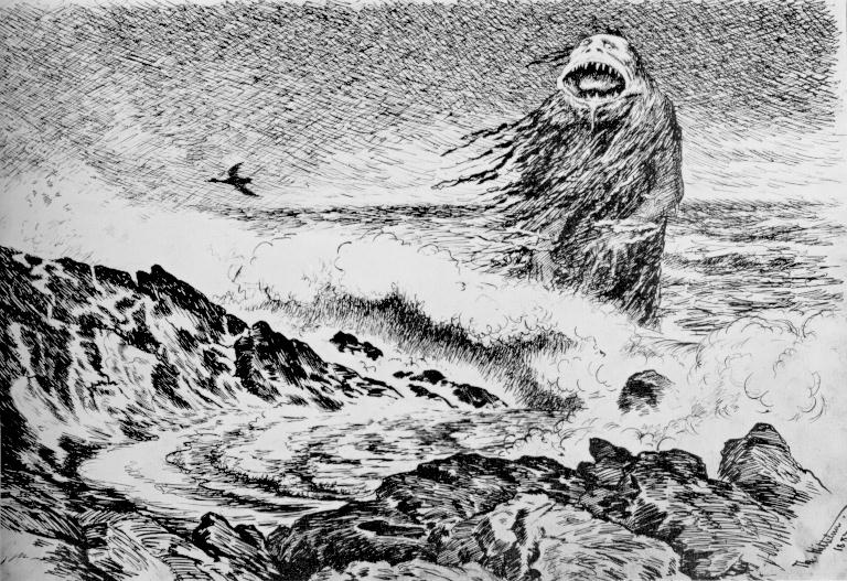 http://commons.wikimedia.org/wiki/File:Theodor_Kittelsen_-_Sj%C3%B8trollet,_1887_(The_Sea_Troll).jpg