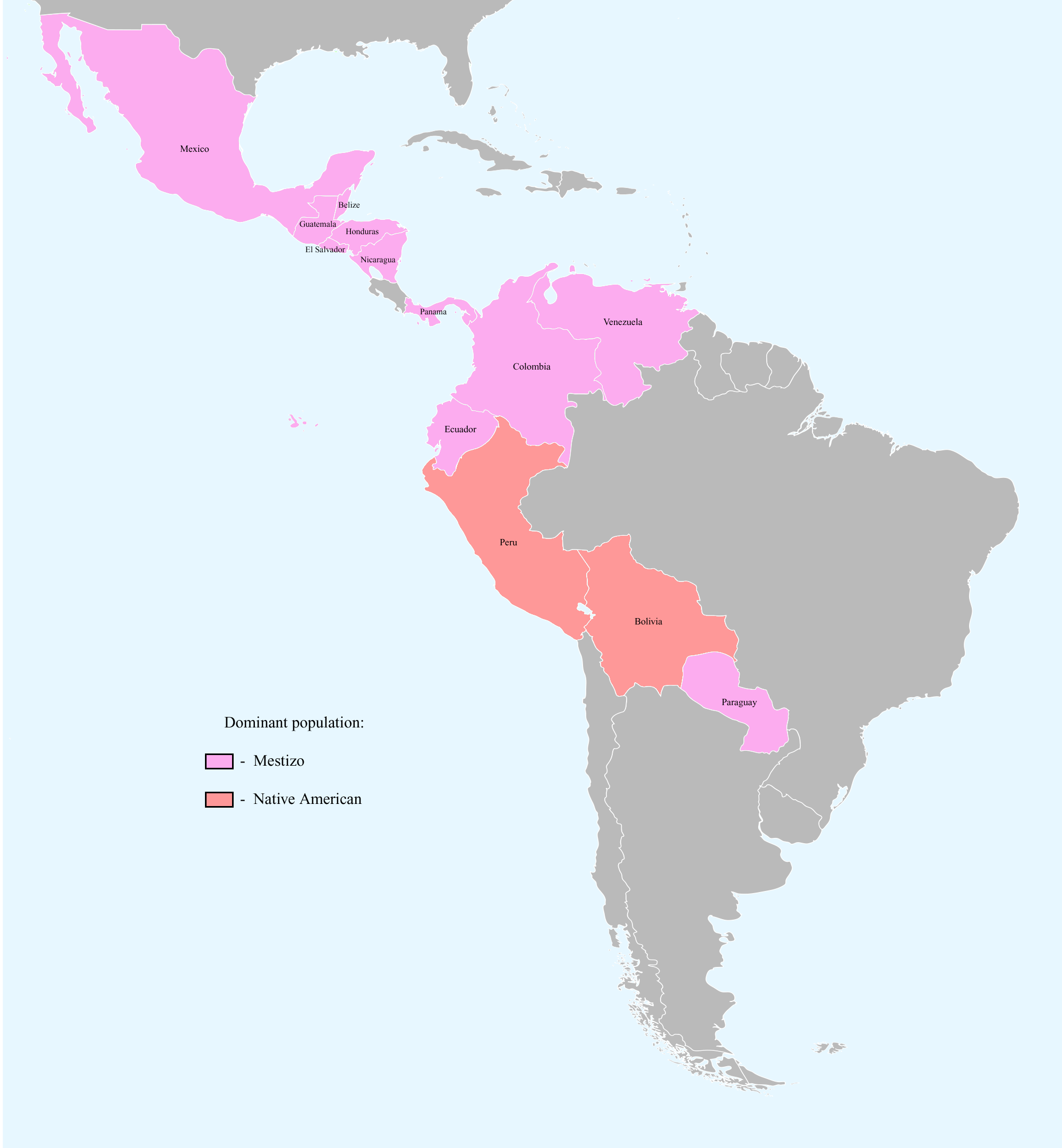 South America History And Culture Map