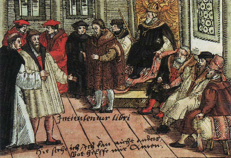 Luther at the Reichstag in Worms, 1521.