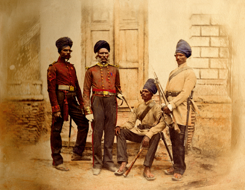 The sappers and miners from Madras (1857-1858).