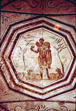 Dobry Pasterz, malowidło z katakumb