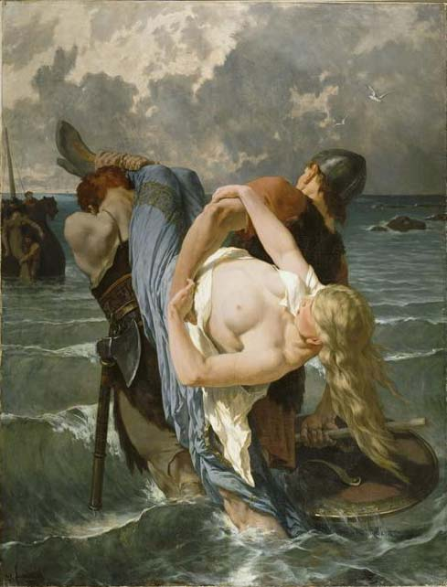 Évariste Vital Luminais - Norman pirates in the 9th century
