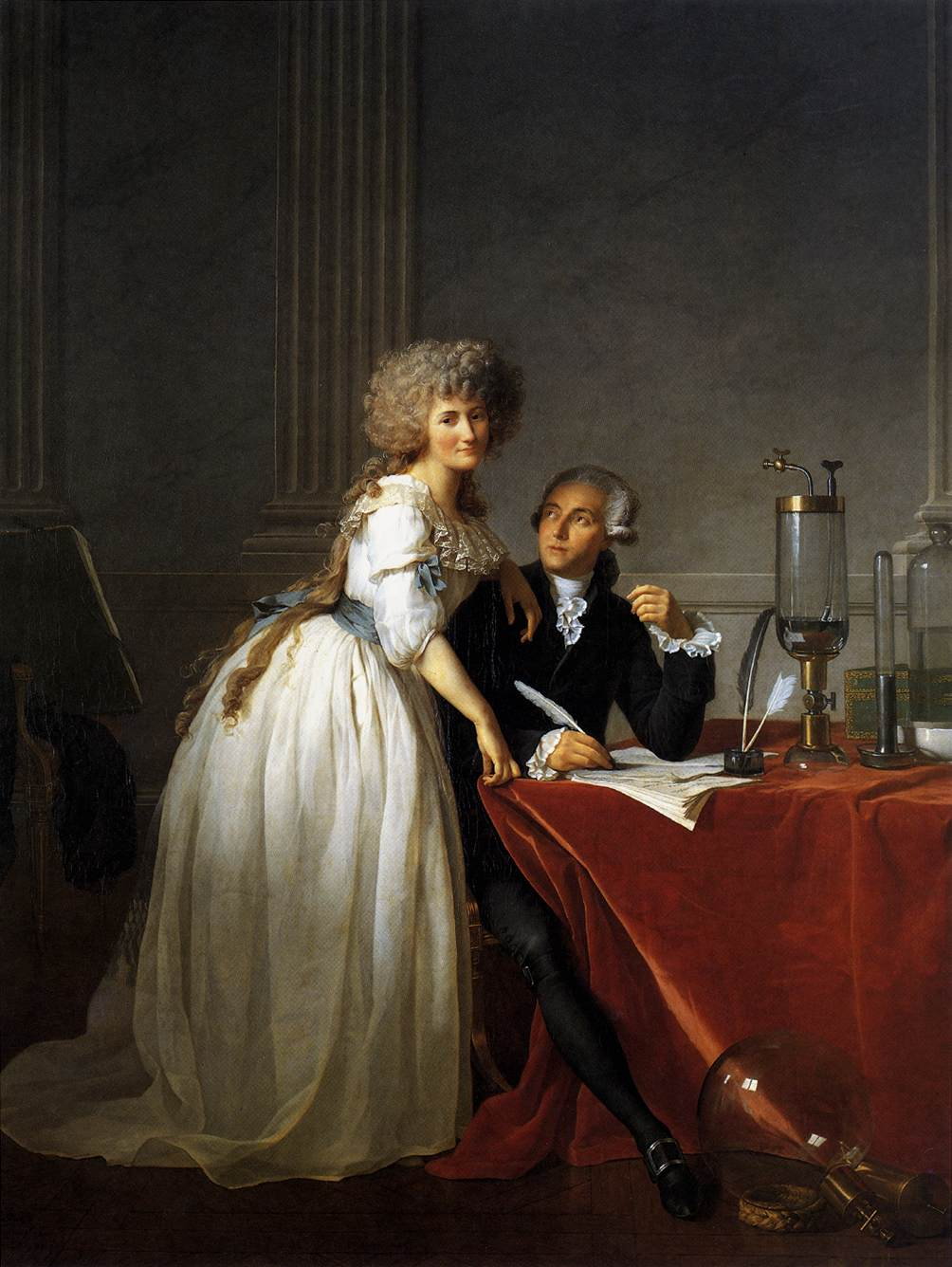 1788 Portrait of Antoine-Laurent and Marie-Anne Lavoisier by Jacques-Louis David