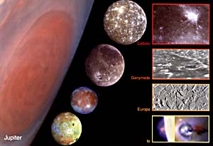 Jupiter's Galilean moons, in a composite image...