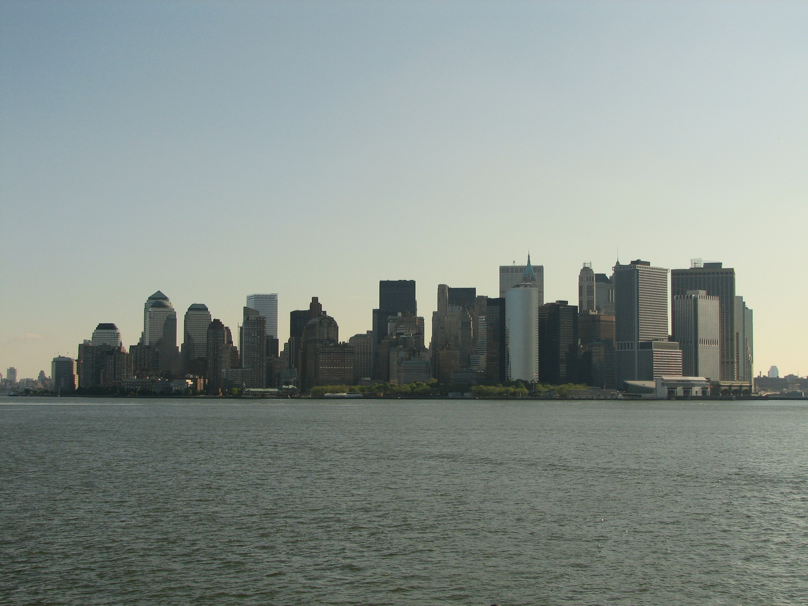 English: New York City skyline - seen from the...