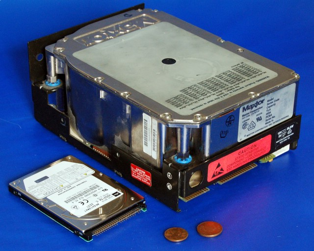 An old maxtor hard disk drive