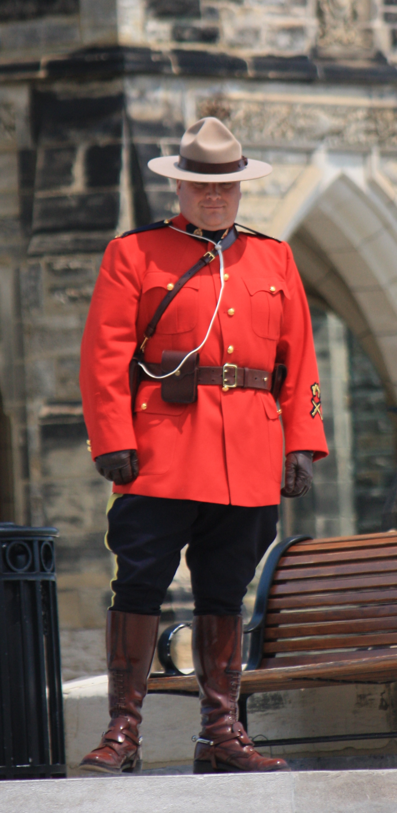 Mountie On Parliament Hill