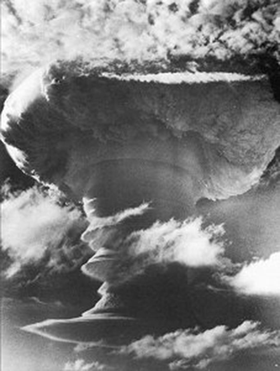 """The first British Hydrogen bomb is dropp..."