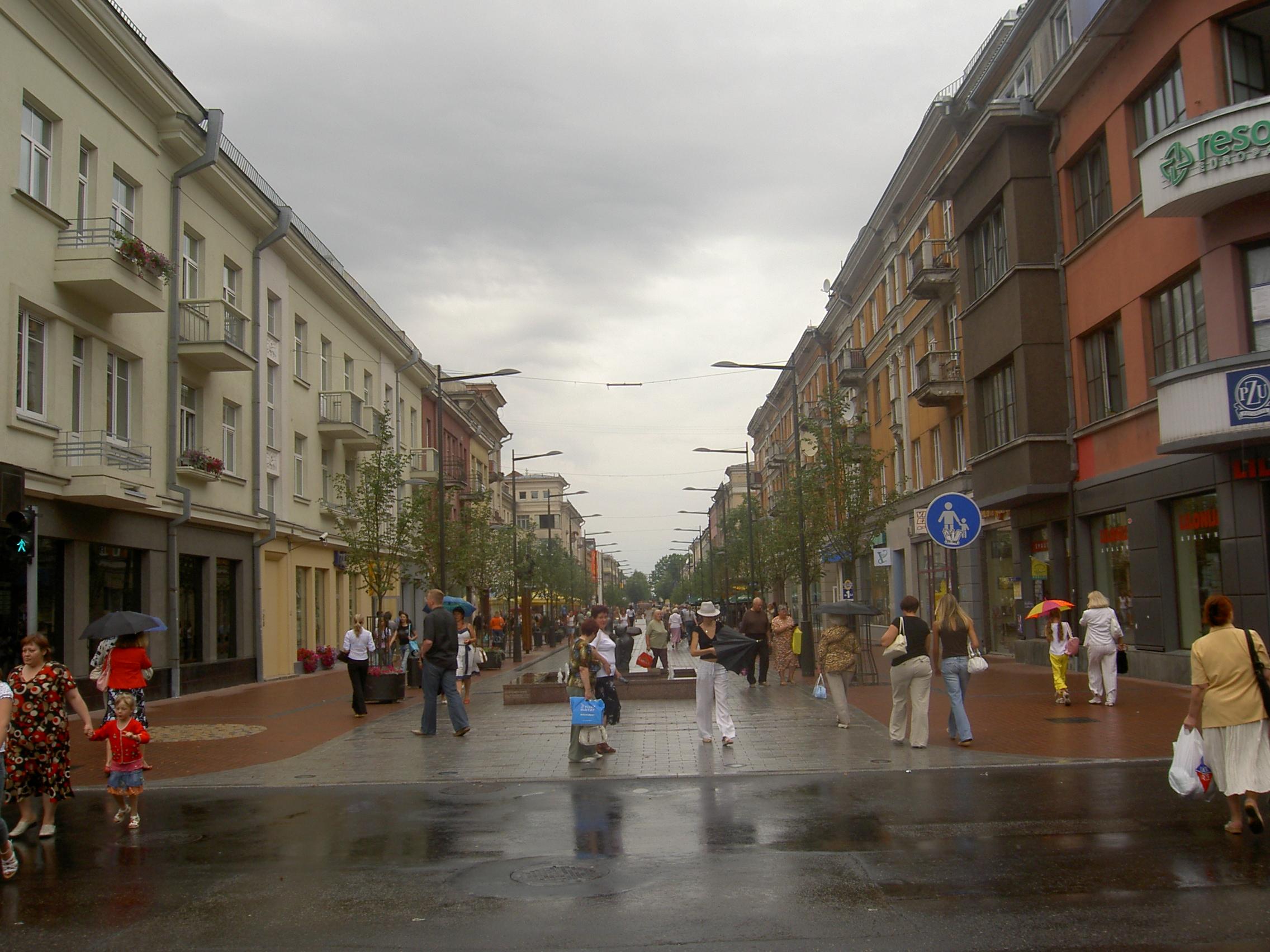 Calle de Vilnius en Šiauliai