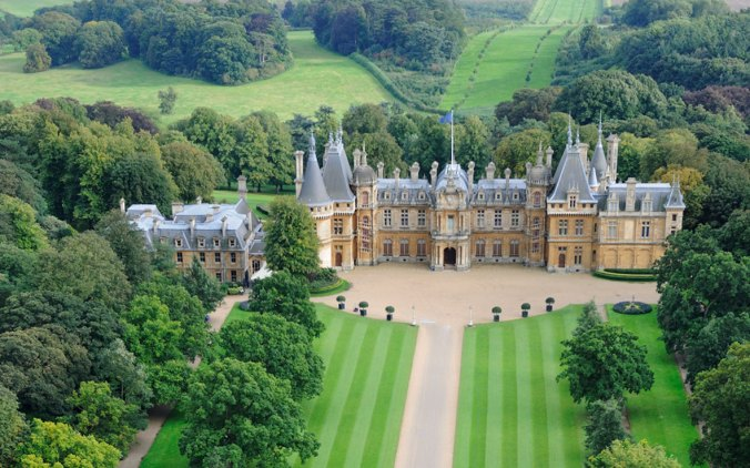 Aerial view of Waddesdon from the north