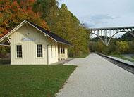 English: The CVSR Brecksville Station, set aga...