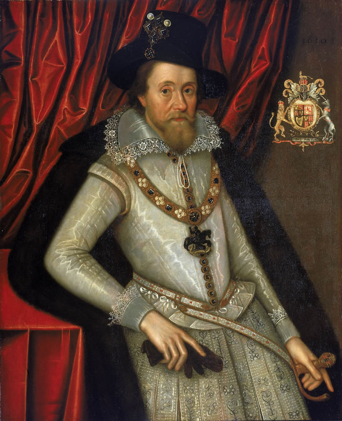 John de Critz the Elder James I of England with a Red Curtain Black Men Fashion