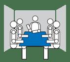 English: large meeting room