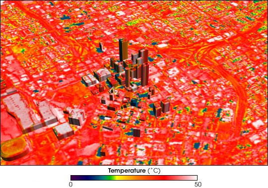 Downtown Atlanta in infrared.