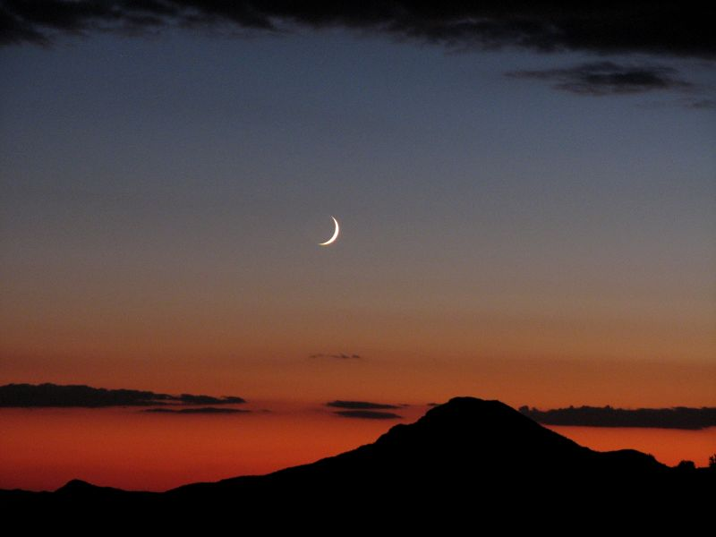 I just love the crescent moon setting