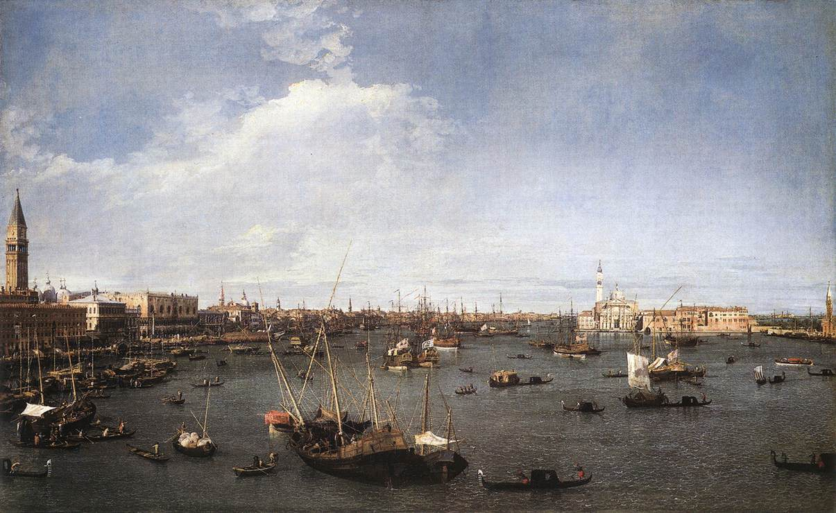 Canaletto San Marco basin, 1738-40.