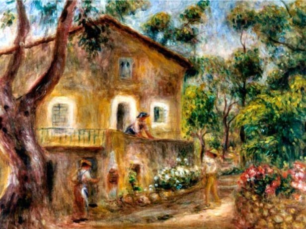 Collette's House in Cagnes by Pierre-Auguste Renoir