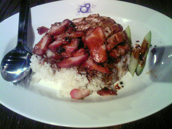 Char siew rice ala Singapore