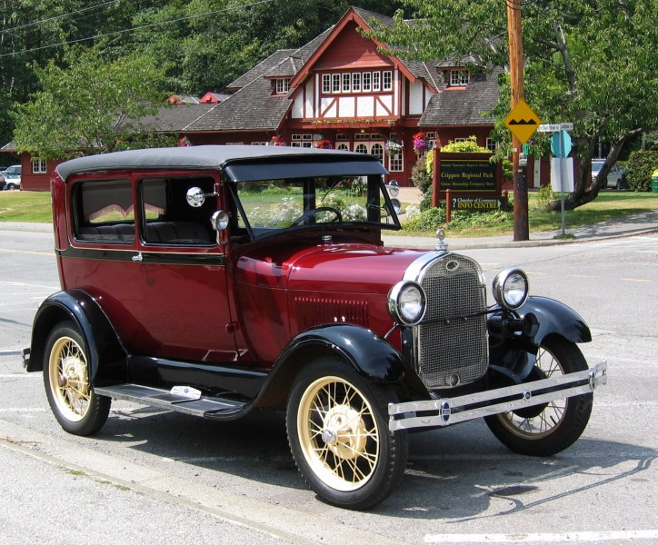 1964 austin cars » Ford Model T   Wikipedia 1928 Ford Model A Tudor Sedan     Shown for comparison  note wider body and  curved doors