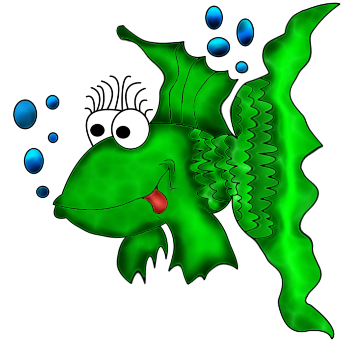 Cartoon image of a fish created with Painter I...