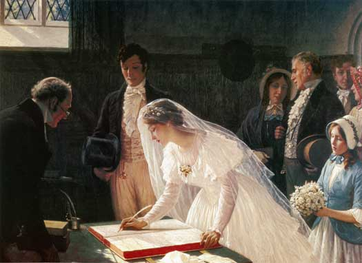 Signing the Register by Edmund Blair Leighton (1853-1922)