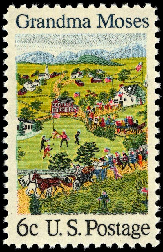 English: 1969 stamp honoring Grandma Moses