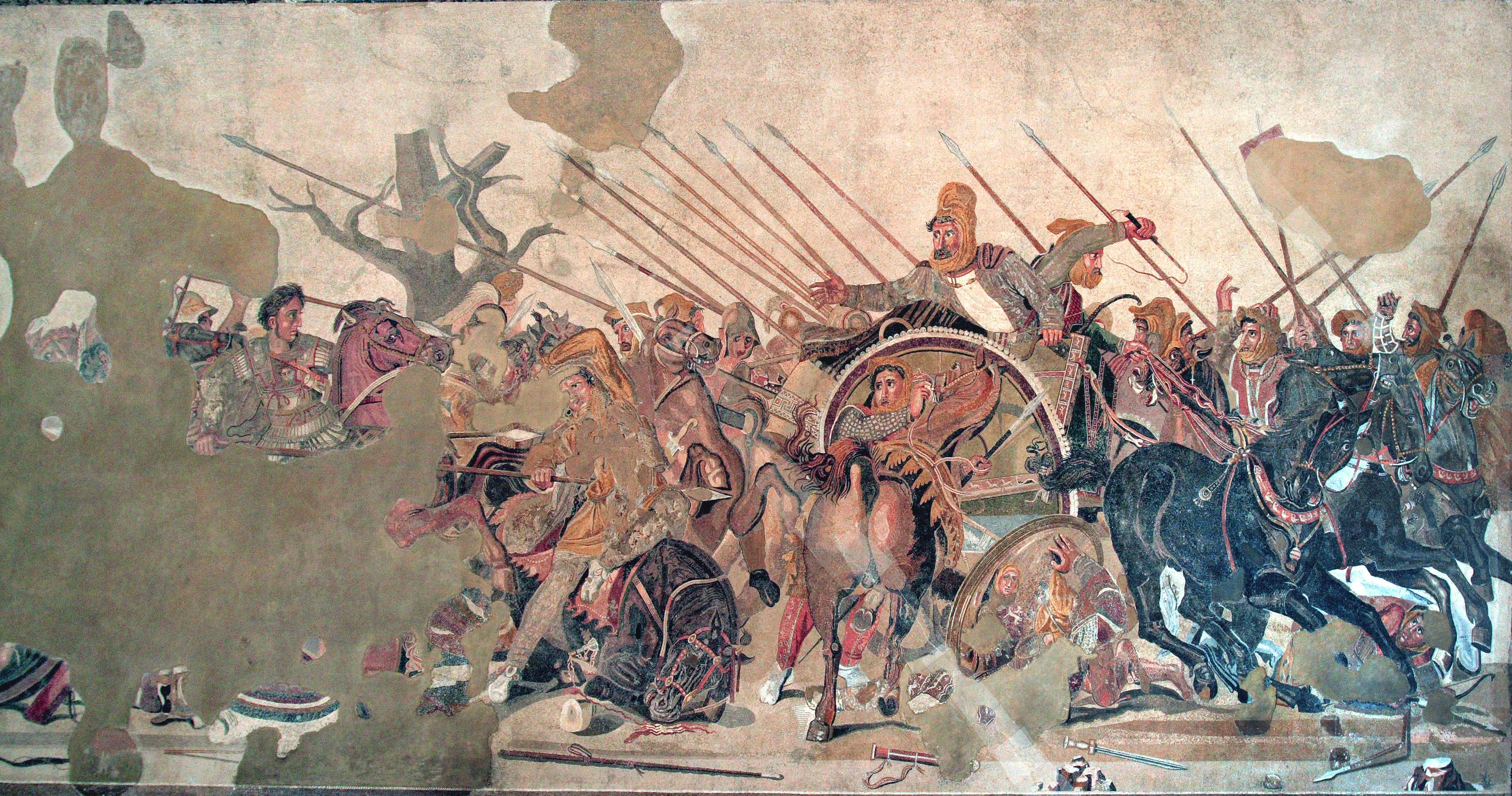 Battaglia di Isso Museo archeologico di Napoli III a C
