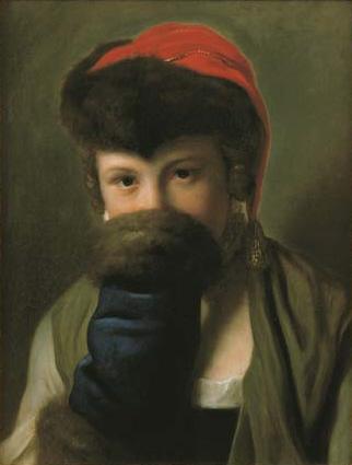 File:Pietro Antonio Rotari A young girl hiding behind a muff.jpg