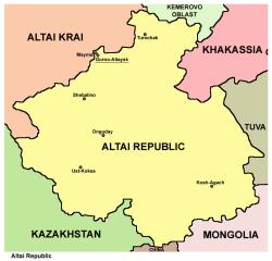 map of Altai Republic