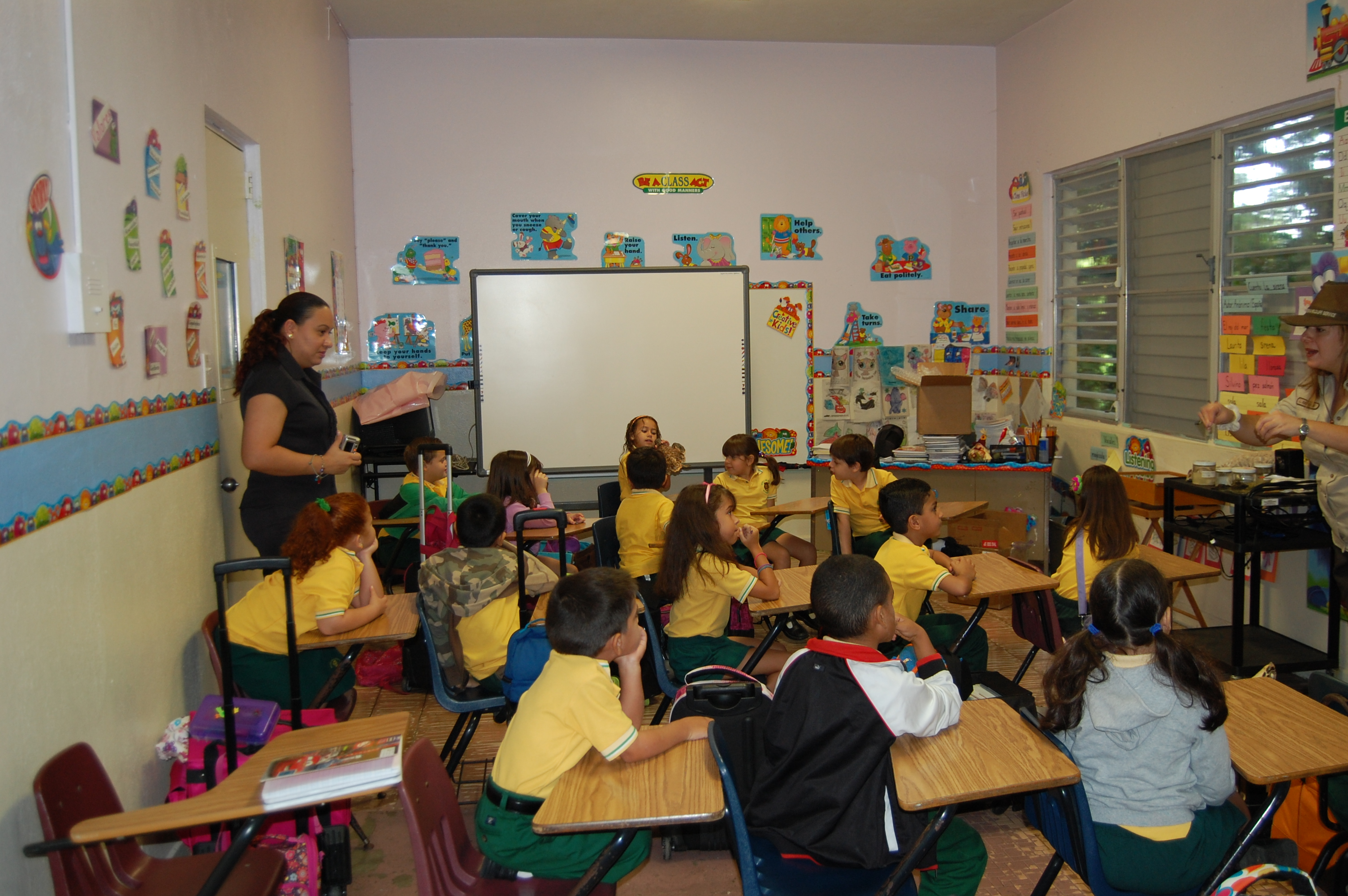 File First Graders Of The Interamerican University