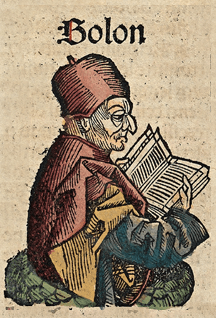 Solon. Woodcut from the Nuremberg Chronicle