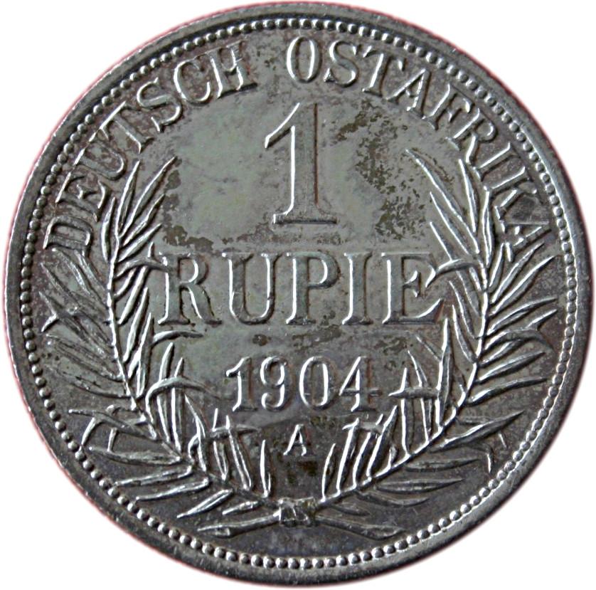 Zahlungsmittel im Deutschen Reich in den Kolonien und Schutzgebieten - 1 Rupie Deutsch Ostafrika 1904