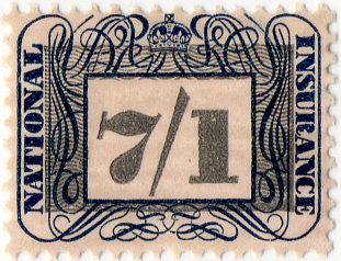 English: British National Insurance stamp.