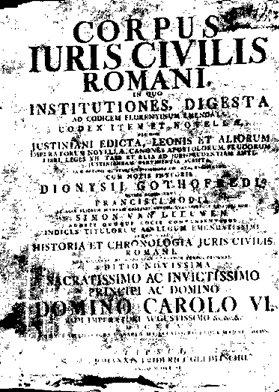 Corpus Iuris Civilis, 1583