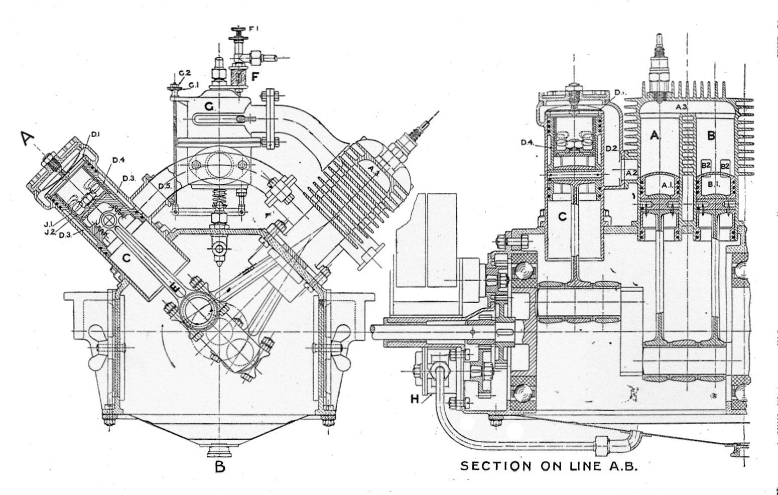 Two Stroke Engine Section Rankin Kennedy Modern Engines