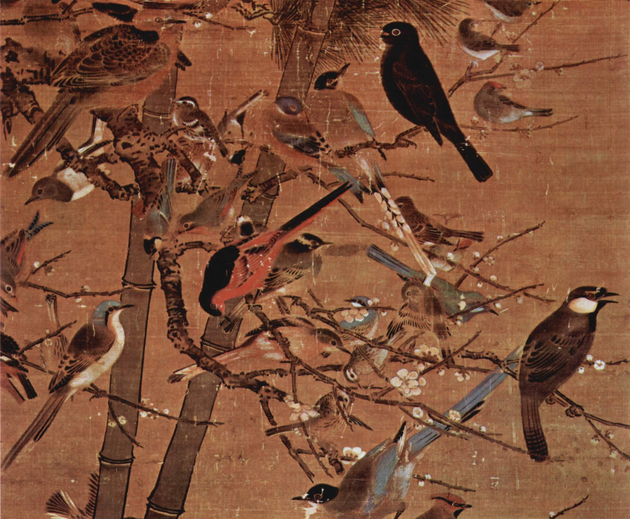 Pien Wen-chi, Three Friends and A Hundred Birds