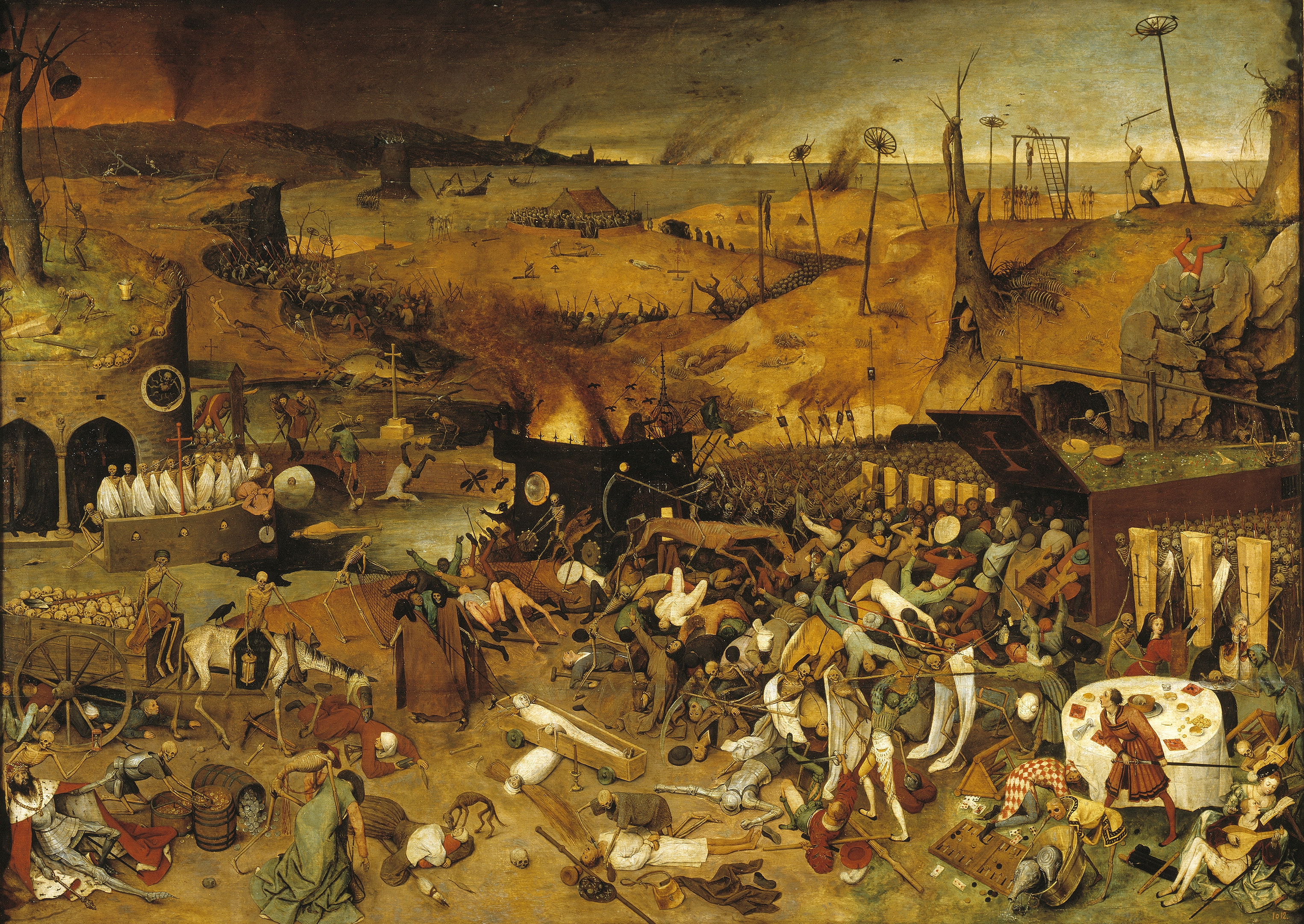 The Triumph of Death (c. 1562) by Pieter Brueghel the Elder reflects the increasingly harsh treatment the Seventeen Provinces received in the 16th century.