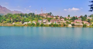 Bhimtal lake view