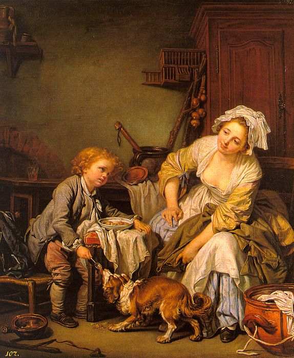 Greuze, Jean-Baptiste - The Spoiled Child - lo...
