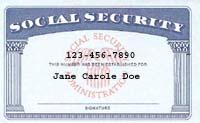 Modern Social Security card.