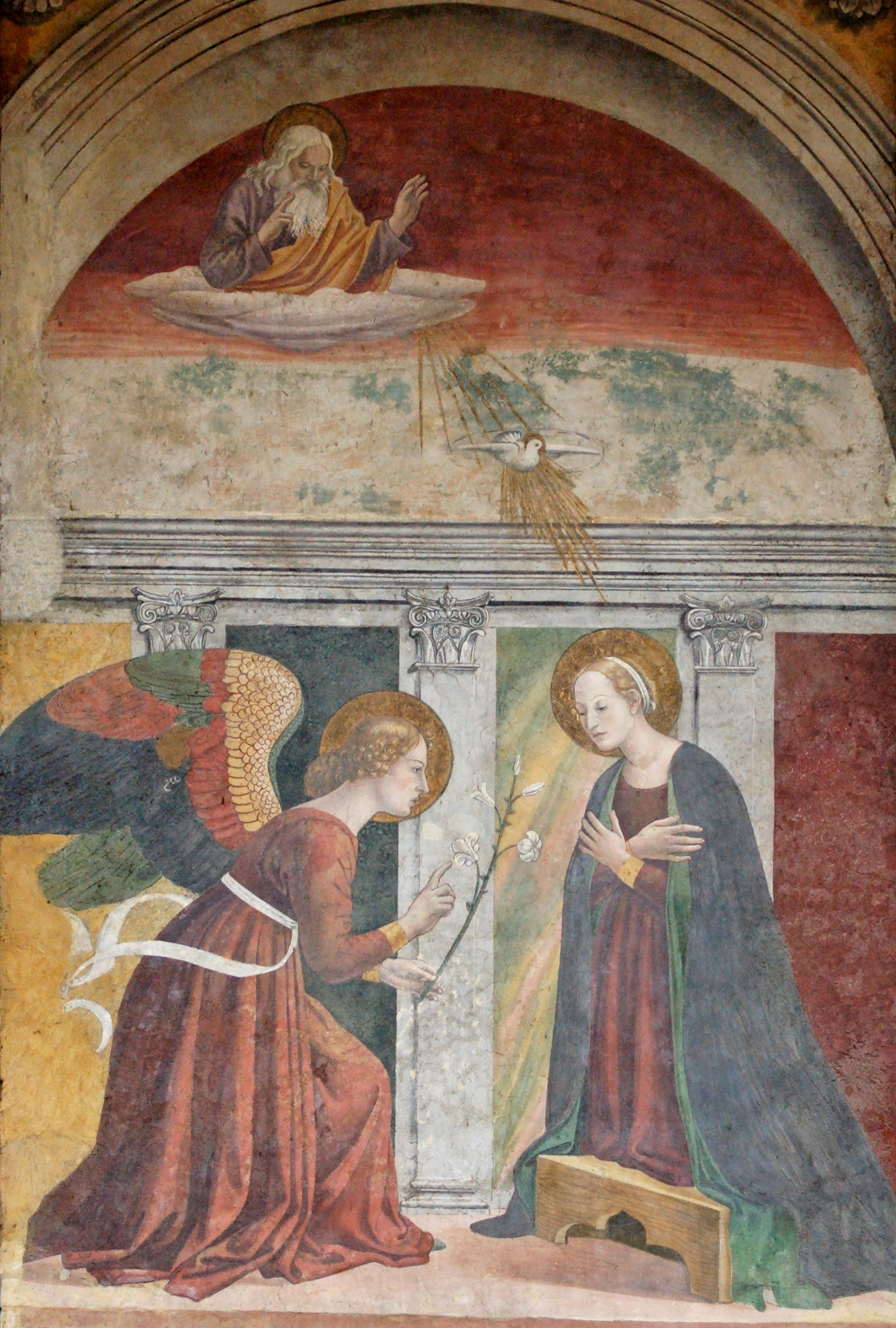 Fresco of the Annunciation at the Pantheon, Rome, 15th century; taken from Wikipedia