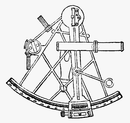 Sketch of an antique sextant