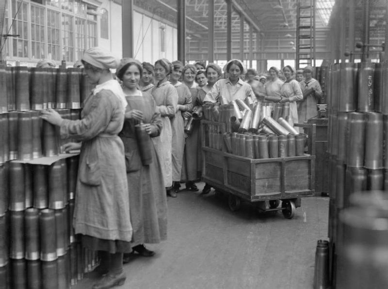 File:Cartridge cases at Woolwich Arsenal 1918 IWM Q 27848.jpg