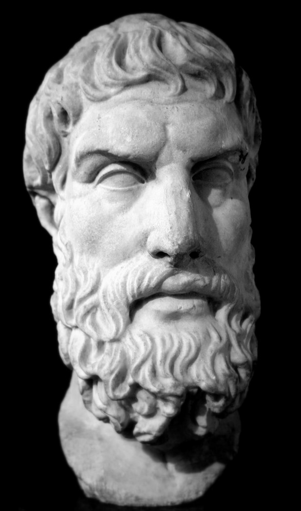 Roman Bust of Epicurus