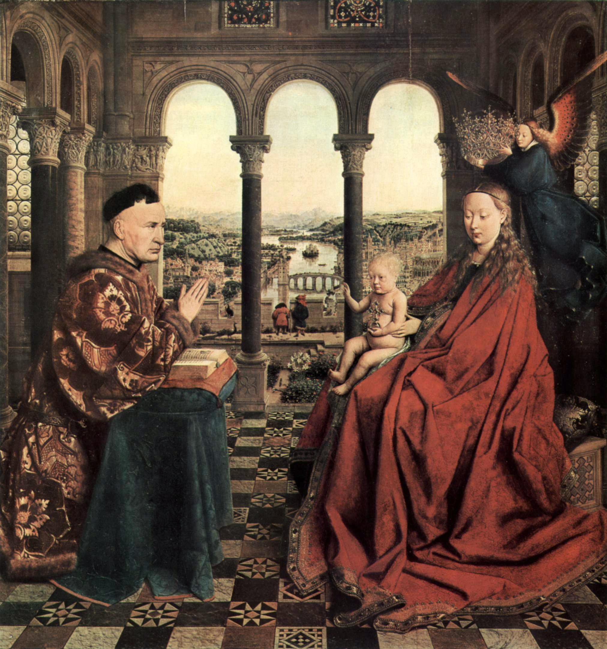 Virgen del Canciller Rolin de Jan van Eyck