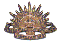 English: Australian Army Rising Sun hat badge ...