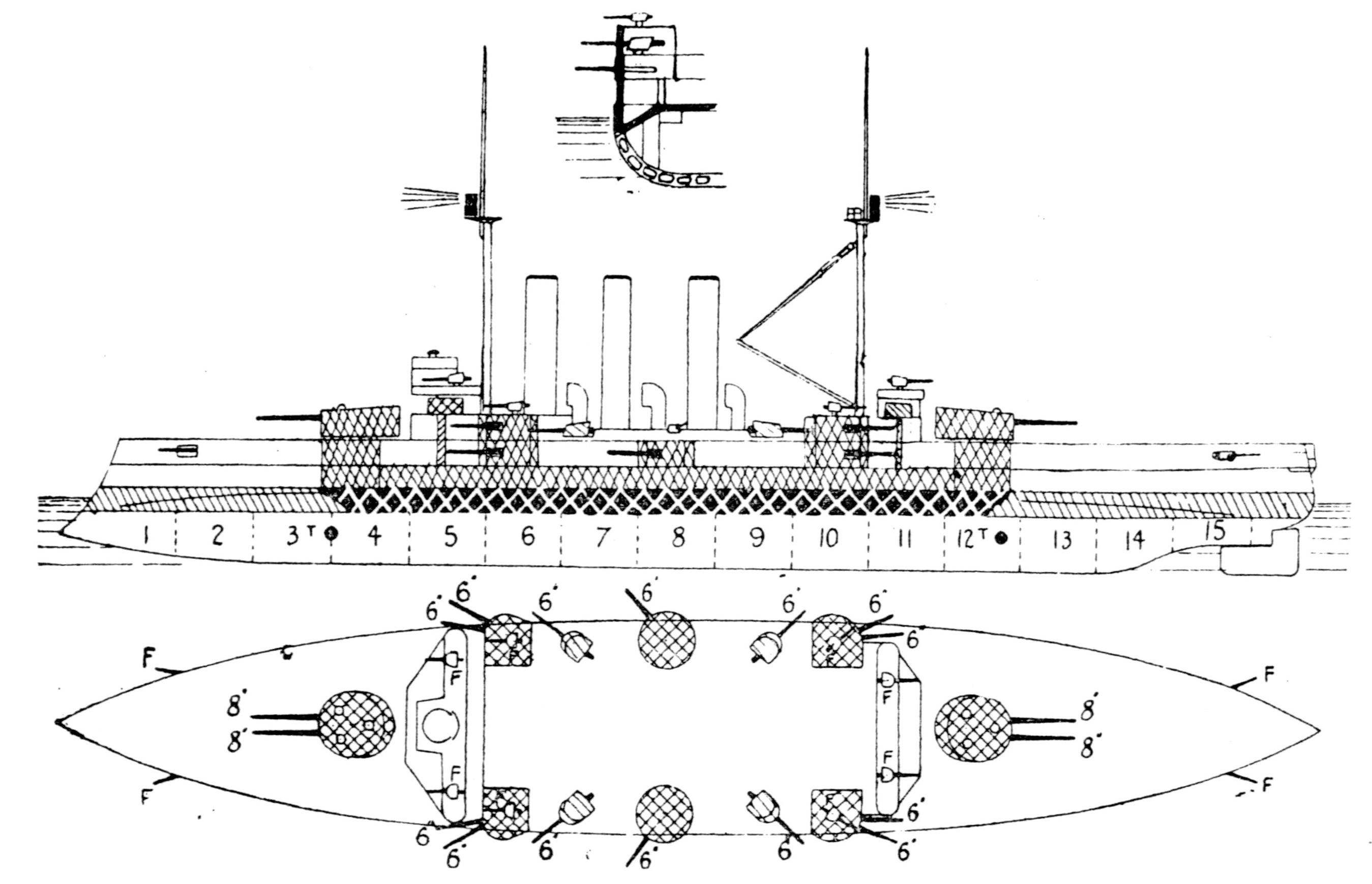 File Izumo Class Armored Cruiser Left Elevation Plan